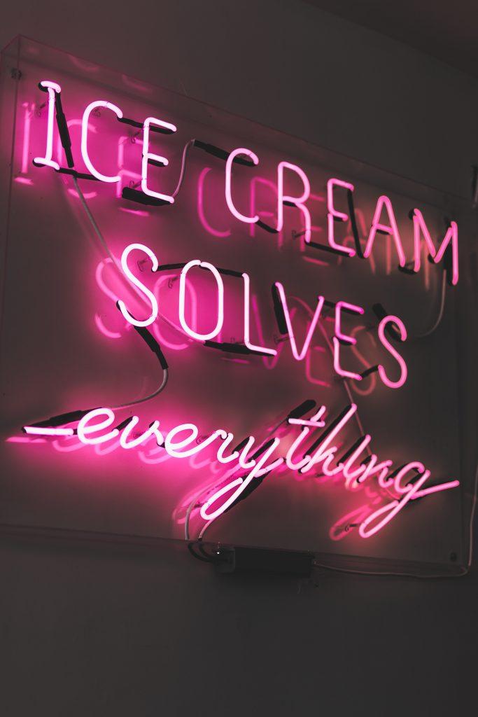 une glace résout tous les problèmes