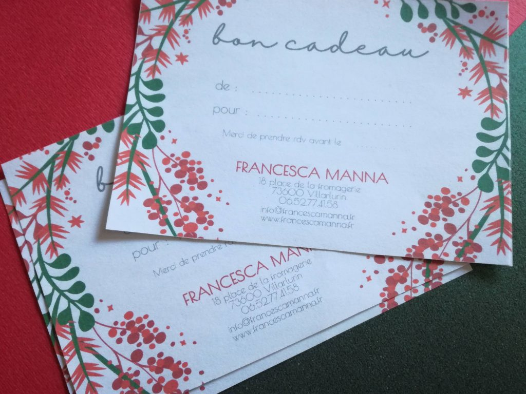les bons cadeaux de Noël Francesca Manna