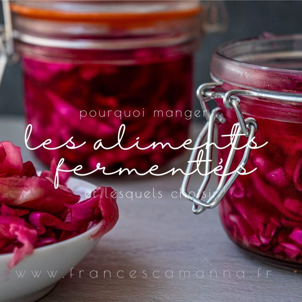les aliments fermentés et leur bénéfices Francesca Manna Naturopathe