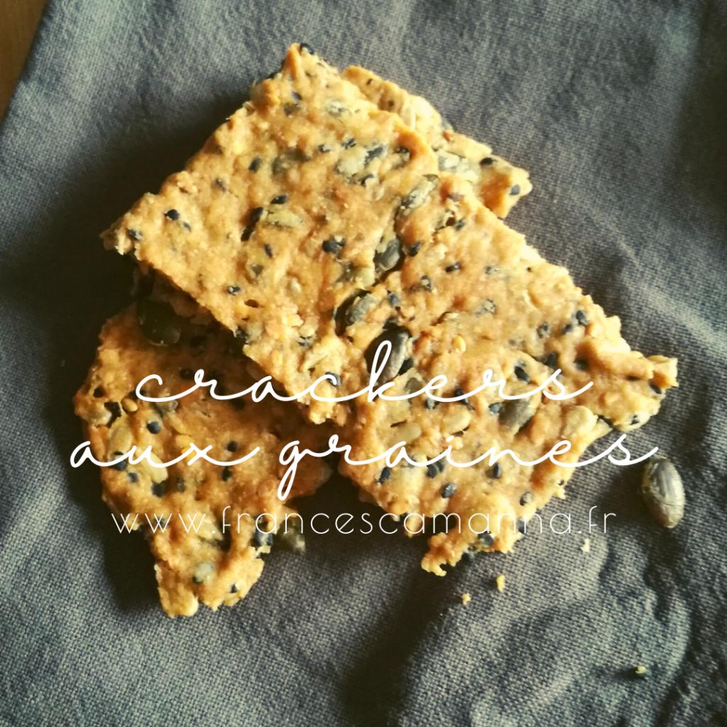 crackers aux graines et au miso Francesca Manna naturopathe