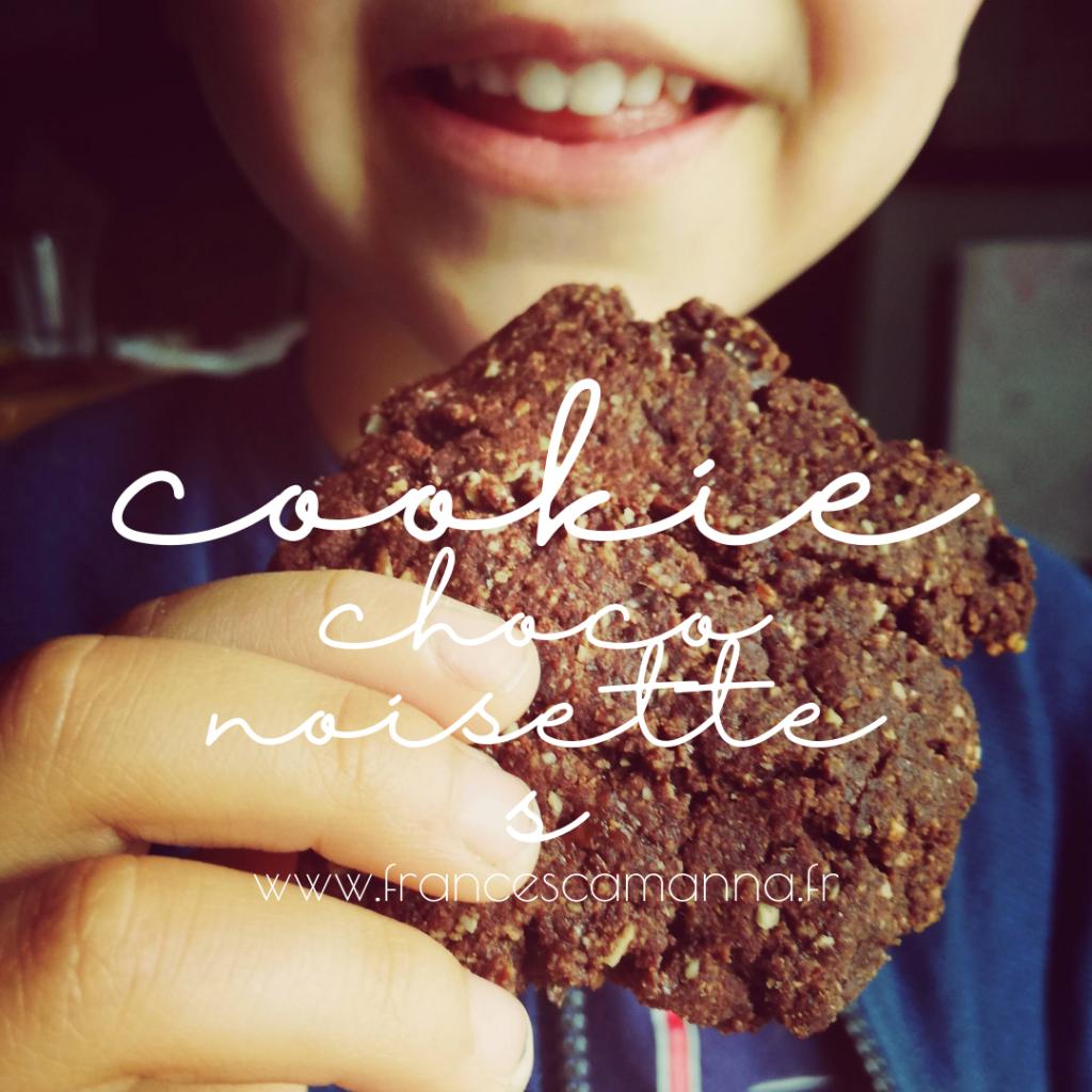 mes cookies choco-noisettes veg Francesca Manna Naturopathe